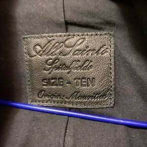 All Saints Jackets & Coats - All Saints Black Kaito Leather Biker Jacket